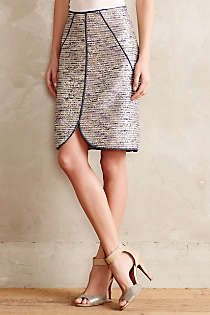 Anthropologie - Eclat Tweed Pencil Skirt