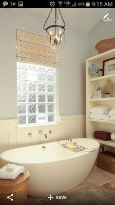 Bathroom Windows Block block window with a functional portion. always wanted something