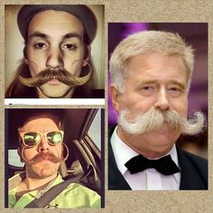 Some of the best moustaches, #hirsuteheroes