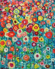 Abstract Garden Of Happiness by Ana Maria Edulescu