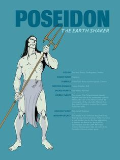 I agree with everything except the Little Mermaid reference. Triton was Poseidon& son, not a derivative of Poseidon. Greek Gods And Goddesses, Greek And Roman Mythology, Norse Mythology, Poseidon Greek Mythology, Percy Jackson, Roman Gods, Les Religions, Ancient Greece, Greek Gods