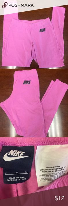Pink NIKE Leggings Size Small These Pink NIKE Leggings are a size Small and are new without the tag attached. Very soft and comfortable. Nike Pants Leggings
