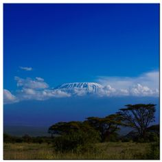 Kilimanjaro Blue. The beauty of the African sky. Photo by Joe Were. http://instagram.com/p/nwKQVJOhy- www.joewere.com