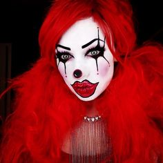 "613 Likes, 17 Comments - The Trash Mask (@thetrashmask) on Instagram: ""Clownin around❣I'll call her Lusty the Clown. Products used: @maccosmetics white foundation and…"""