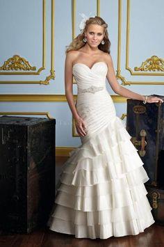 Elegantní & luxusní Podzim Bez rukávů Svatební šaty 2014