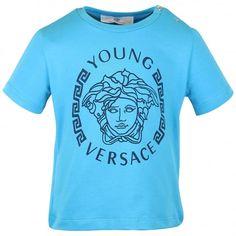 7b2236b9 Young Versace baby boys blue t-shirt. #versace #youngversace #tshirt Versace