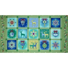 Winterscapes Panel Christmas Blocks Green $4.78/y      Manufacturer: Benartex     Collection: Winterscapes