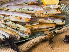 La cocina de Frabisa: Navajas a la plancha da Costa da Morte. Cocina gallega