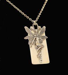 Upcycled Ivory Piano Key Necklace Fairy Mythology by DesignsBloom, $27.50