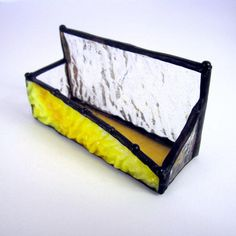 Rippled #Sunny Handmade #StainedGlass #BusinessCard Holder @2GlassThumbs