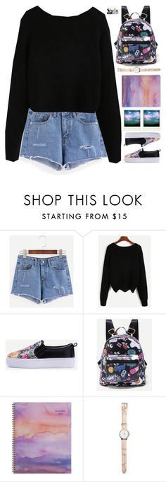 """club"" by scarlett-morwenna ❤ liked on Polyvore featuring WithChic, Polaroid and AT-A-GLANCE"