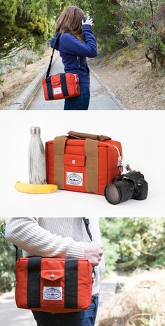 This bag's pulling double duty. More than a cooler bag, it's also a cool camera bag. Cool? Cool. ($65)