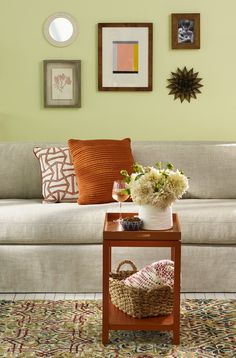 Round out a room with a mix of textures, colors, and eye-candy.