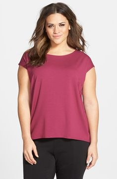Eileen Fisher Asymmetrical Hem Top (Plus Size) available at #Nordstrom