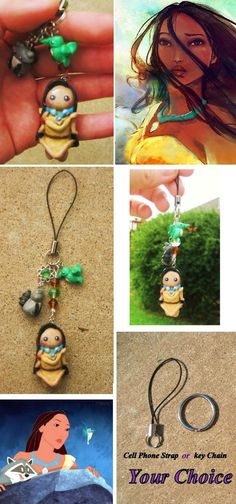 Pocahontas charm Make out of polymer clay