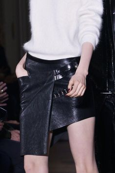 Mohair + Leather: Anthony Vaccarello Fall 2013