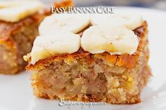 Easy Banana Cake. This sweet treat is moist and naturally sweetened with ripe bananas and a bit of dark brown sugar