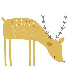 Hert XL - Muursticker | Forest | Gras onder je voeten | Lilipinso | Kinderkamer inrichten in Forest stijl