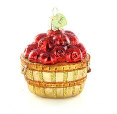 Old World Christmas Apple Basket Ornament. #Christmas #NewYear #Ornament #Decor #giftidea #Gift #gosstudio .★ We recommend Gift Shop: http://www.zazzle.com/vintagestylestudio ★