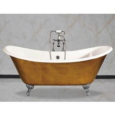Arcadia Cast Iron Bath With Chrome Feet | At Victorian Plumbing.co.uk