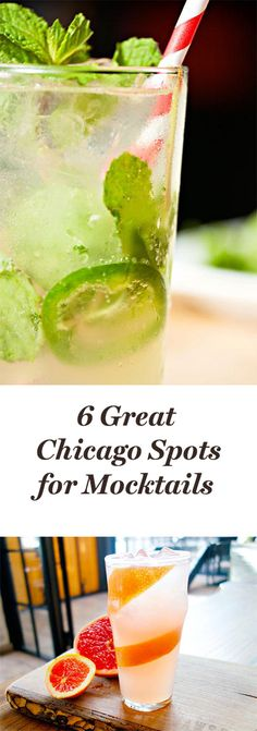 6 Chicago Spots for Great Mocktails Chicago Restaurants, Moscow Mule, Travel Stuff, Lincoln, Illinois, Liquor, Dates, Fruit, Drinks