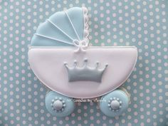 Baby Prince Carriage Cookie    12 Cookies   by NYCookiesByVictoria