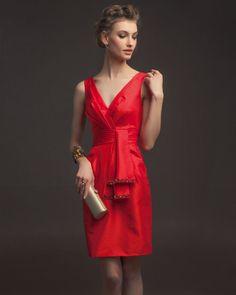Red Vintage Bridesmaid Dresses