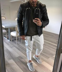 @balmain #leather jacket and #zara jeans by @vincenzoragnacci  [ http://ift.tt/1f8LY65 ] #royalfashionist