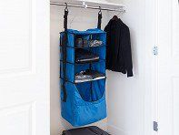 Rise Gear's Riser is a collapsible shelving system added to your own suitcase, with shelves, a divider, laundry compartment, and pockets for shoes and toiletries. Backpack Organization, Travel Organization, Carry On Luggage, Carry On Bag, Everything Stays, Portable Closet, Shelf Dividers, Packing Tips, Travel Packing