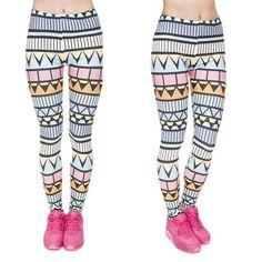 f9ccfc19c604e Zohra Brand New Fashion Aztec Printing legins Punk Women's Legging Stretchy  Trousers Casual Slim fit Pants Leggings - Hautify