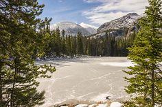 Title  Frozen Nymph Lake - Rocky Mountain National Park Estes Park Colorado   Artist  Brian Harig   Medium  Photograph - Photographs - Photography