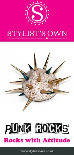 Punk Rocks - Well what can we say? It's a rock with spikes on it. it's a Punk Rock! Punks not Dead, long live Punk Rocks® - Rocks with serious attitude! Punks Not Dead, Long Live, Spikes, Punk Rock, Attitude, Rocks, Take That, Healthy, Design