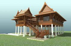 Max Thailand Traditional House - 3D Model