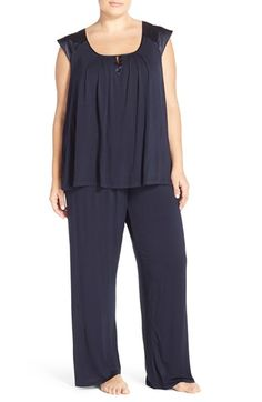 Midnight by Carole Hochman 'Core' Pajamas (Plus Size) available at #Nordstrom
