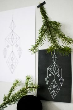 Christmas #decoration A Christmas Story, Christmas Crafts, Xmas, Simple Interior, Beautiful Interior Design, Diy Wall Art, Beautiful Christmas, Fun Crafts, Prints