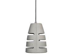 Battaglia 150 Concrete light GFRC Dimensions: D 15cm H 21cm, E14 max eco40W colored pvc-cloth cable