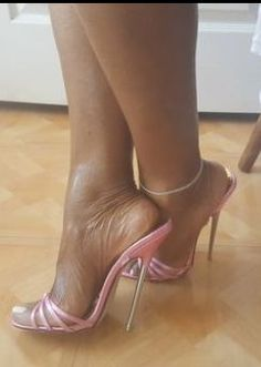#Stilettoheels Open Toe High Heels, Hot High Heels, Platform High Heels, High Heels Stilettos, Womens High Heels, Stiletto Heels, Ladies Heels, Pantyhose Heels, Ankle Chain