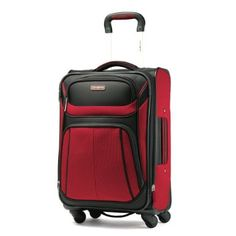 Samsonite Luggage Aspire Sport Spinner 21 Expandable Bag, Red/Black, Carry-on: Clothing Best Carry On Luggage, Carry On Suitcase, Luggage Shop, Travel Luggage, Luggage Bags, Motorcycle Luggage, Spinner Suitcase, Black Bedding