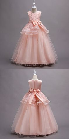 21c10696648 V-neck Pretty Wine Red Color Flower Girl Dresses With Bow Ball Gowns ...