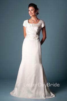 Modest Wedding Dress, Lundquist | LatterDayBride & Prom. Modest Mormon LDS Temple Dress