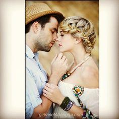 Boho engagement shoot.... girlmeetsbongga.com #hair #makeup