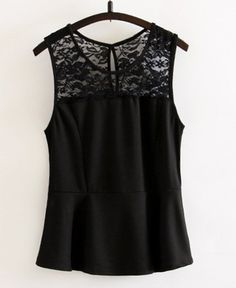$7.70 Lace Splicing Scoop Neck Casual Tank Top For Women