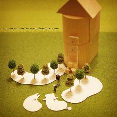 miniature calendar 6.3 -Moomin-