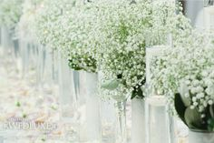 baby's breath wedding decor | baby's breath table decor. #wedding decor | Wedding Flowers