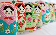 Russian Doll Baby Rattle Pocket Doll Available by RegalCottage