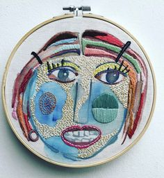 "Embroidery artistic embroidery ""mujer azul """