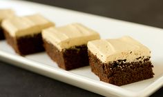 Mocha Brownies with Espresso Buttercream Frosting