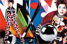 Posh Pop-Art Pictorials - The December 2012 Vogue UK Issue Features an Editorial by Mario Testino