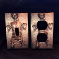 STAR WARS Han Solo Carbonite light switch cover plate wall outlet home decor