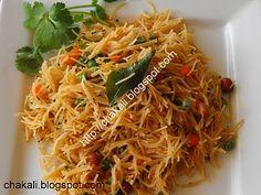 Indian breakfast, vermicelli upma, shevayancha upma, sevai upma